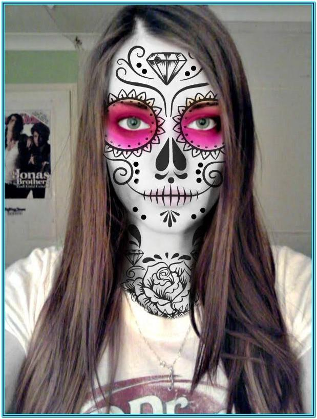 Skull Candy Face Painting Ideas