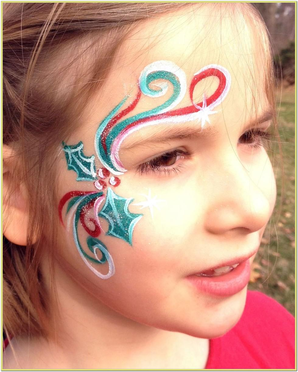 Small Christmas Face Painting Ideas