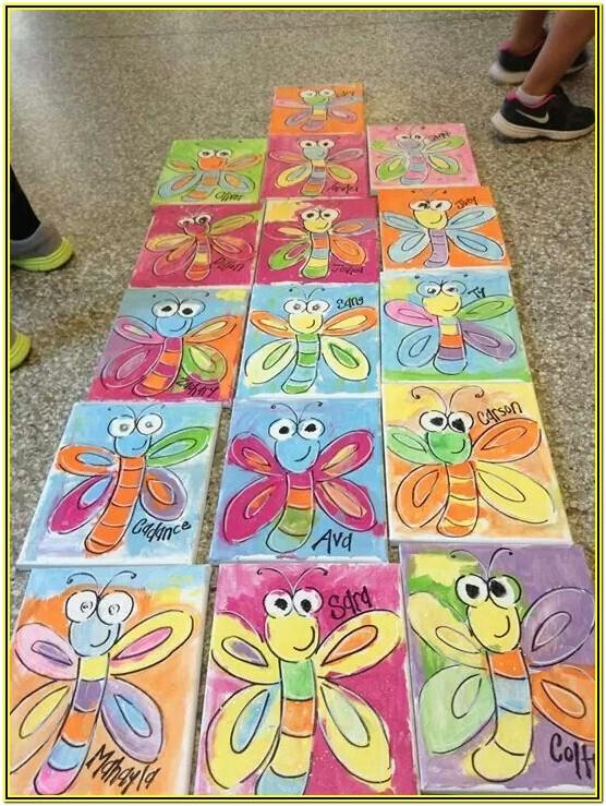 Spring Painting Ideas For Kindergarten