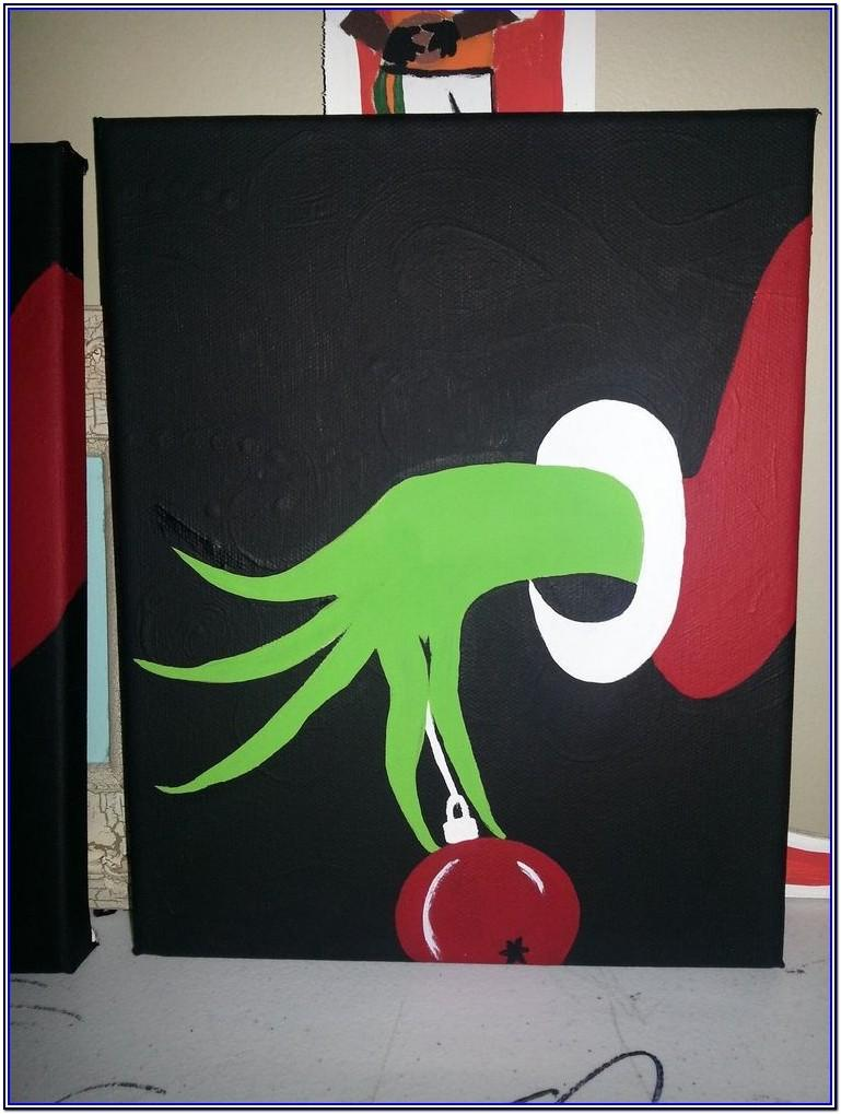 Step By Step Christmas Canvas Painting Ideas