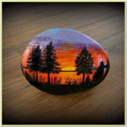 Sunset Rock Painting Ideas