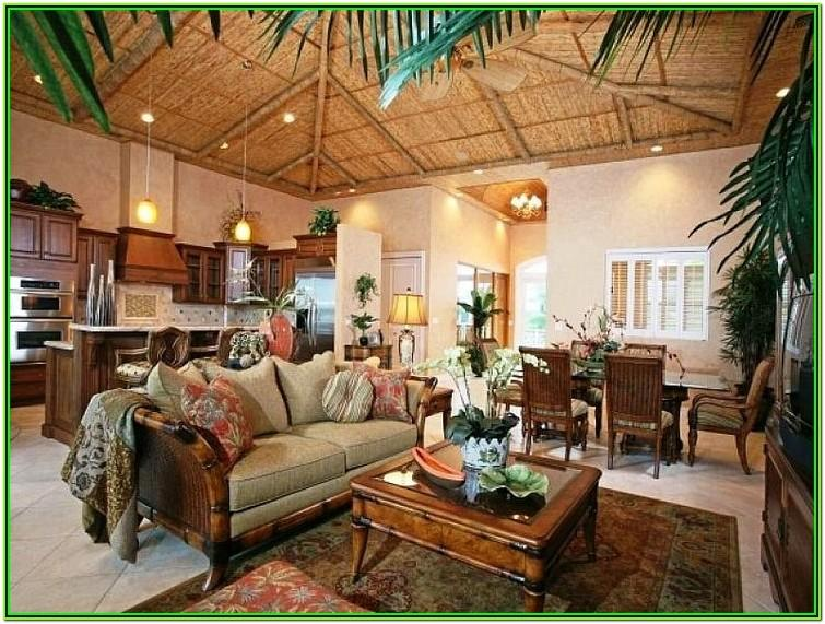 Tropical Style Living Room Ideas