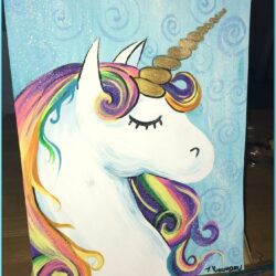 Unicorn Canvas Painting Ideas