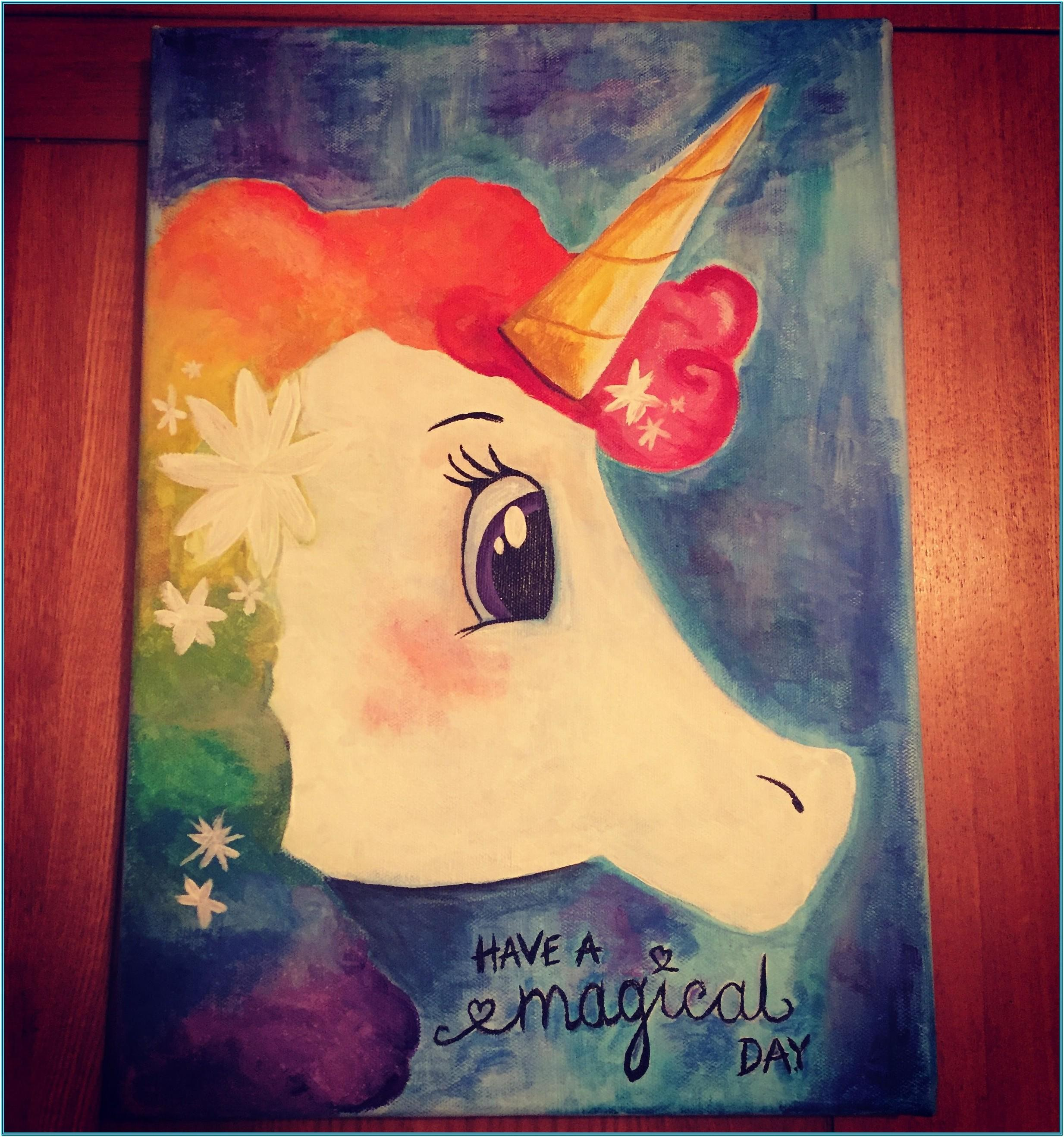 Unicorn Painting Party Canvas Ideas
