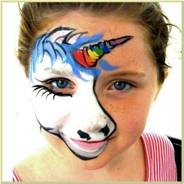 Unicorn Party Face Paint Ideas