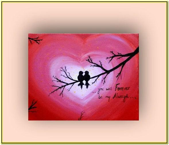 Valentine Acrylic Painting Ideas