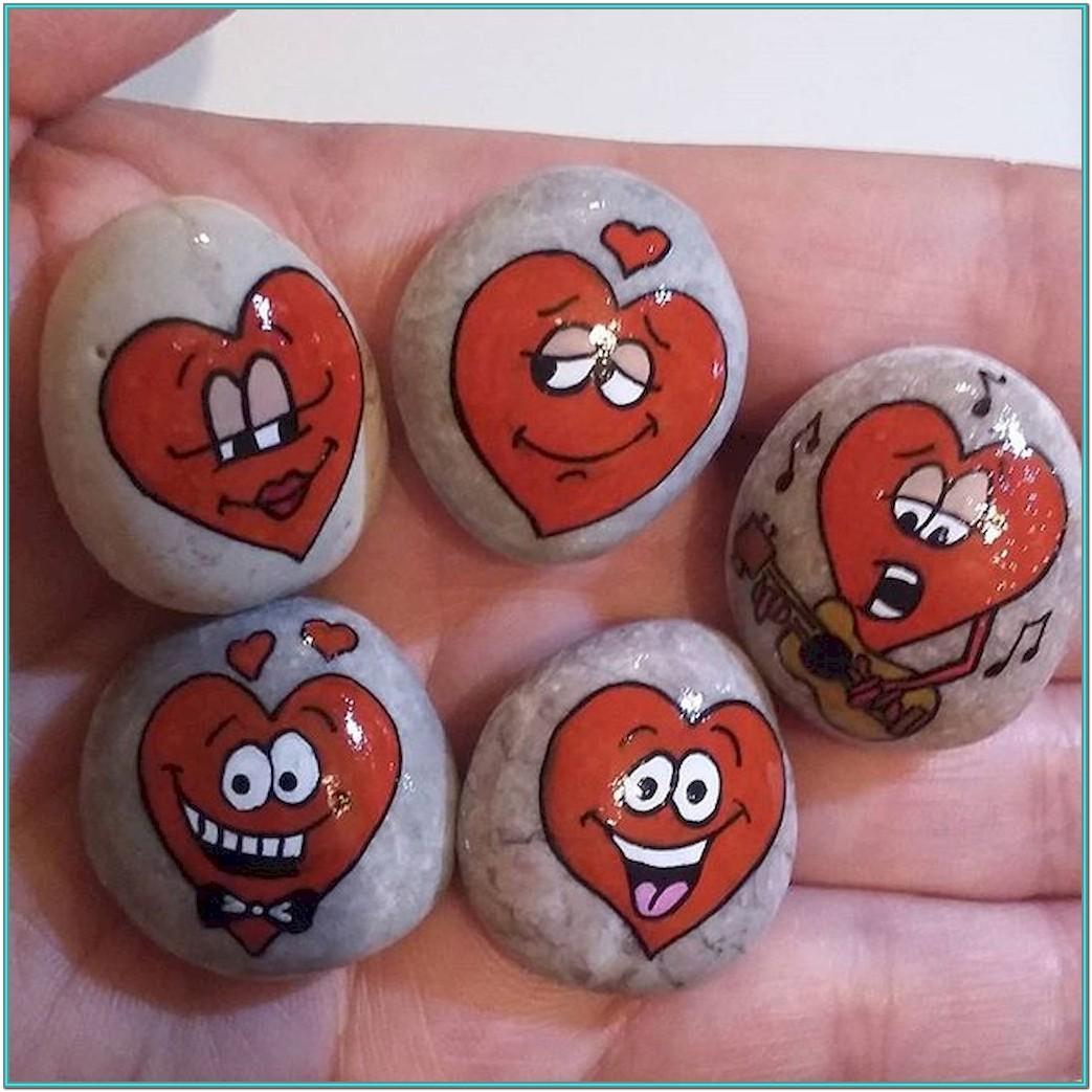 Valentine Rock Painting Ideas