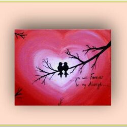 Valentines Day Canvas Painting Ideas