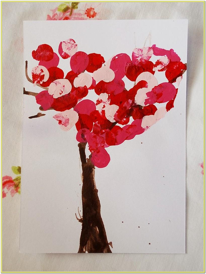 Valentine's Day Finger Painting Ideas