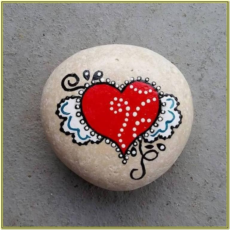 valentines rock painting ideas