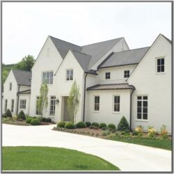 White Exterior House Colour Schemes