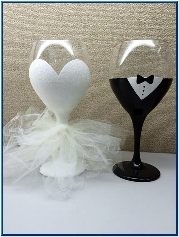Wine Glass Painting Ideas Easy