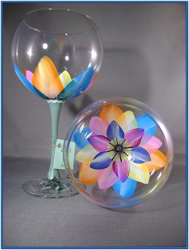Wine Glass Painting Ideas For Beginners