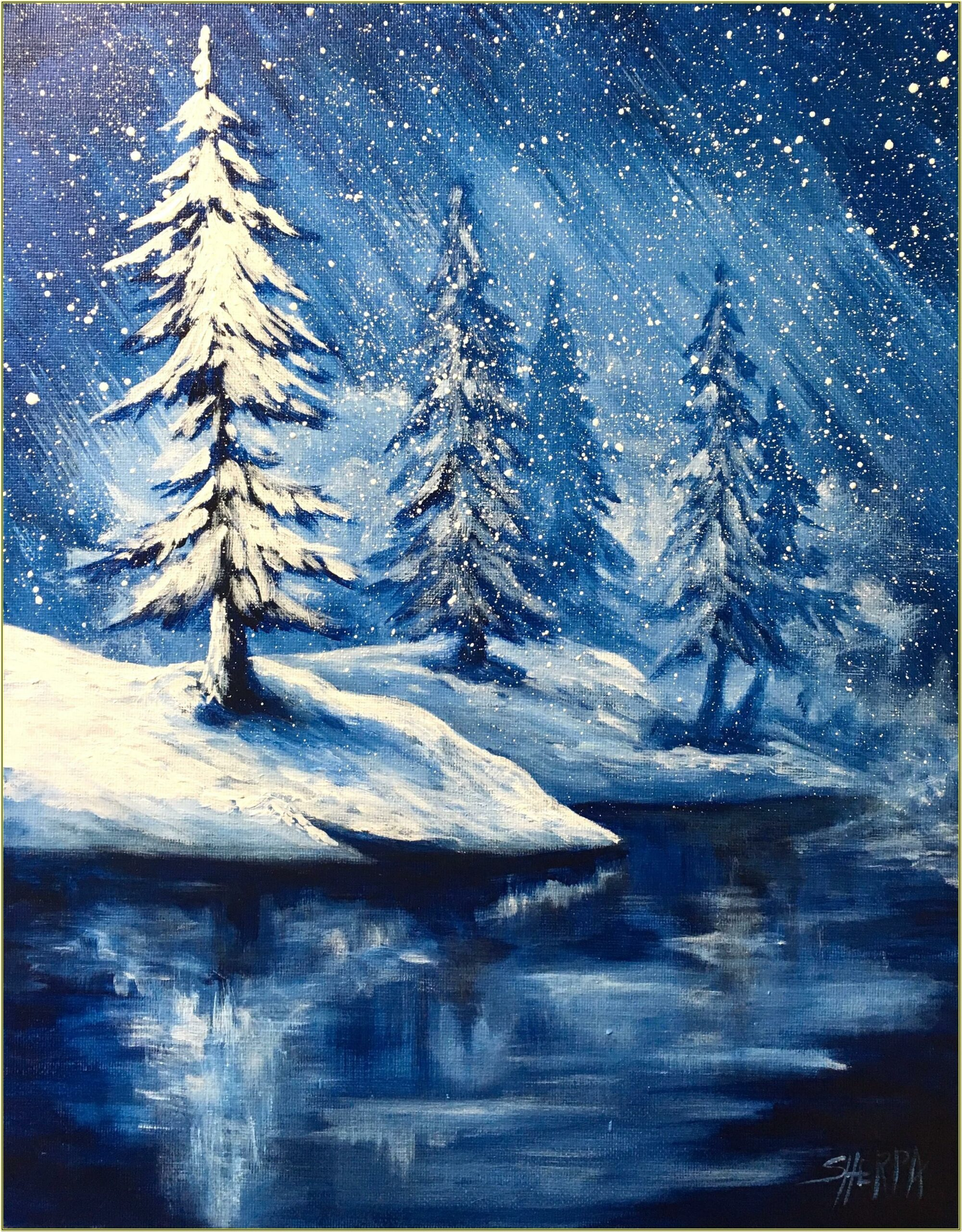 Winter Painting Ideas For Beginners