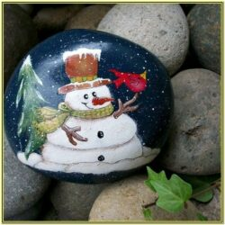 Winter Rock Painting Ideas