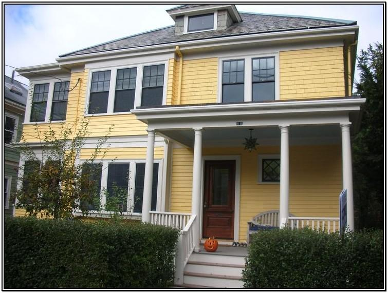 Yellow House Exterior Color Schemes