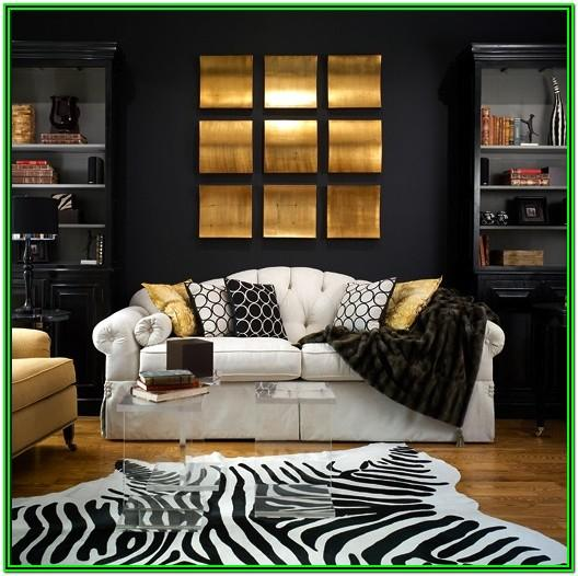 Apartment Black And Gold Living Room Decor