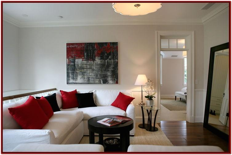 Black And Red Sitting Room Ideas
