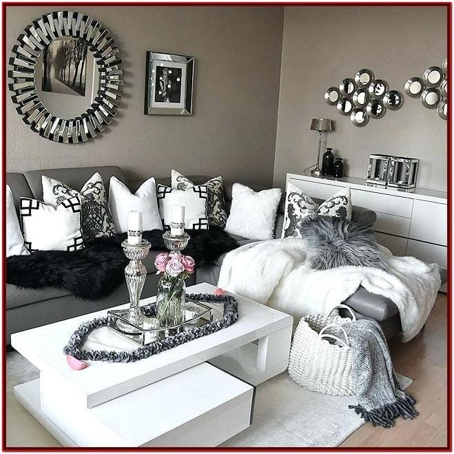 Black Grey And White Living Room Accessories
