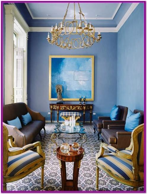 Blue And Gold Living Room Decorating Ideas