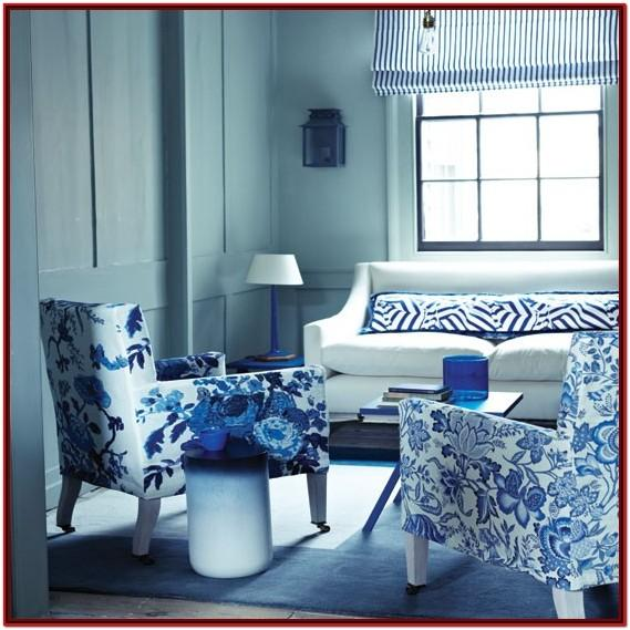 Blue And White Living Room Designs