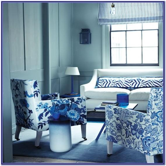 Blue Floral Living Room Ideas