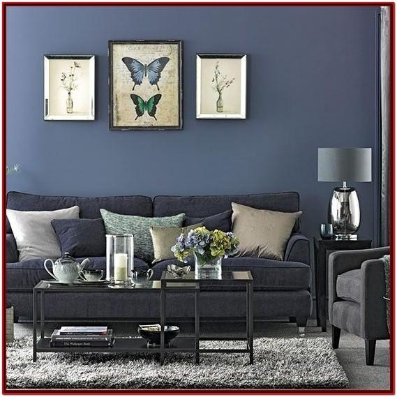 Blue Gray Living Room Wall Decorations