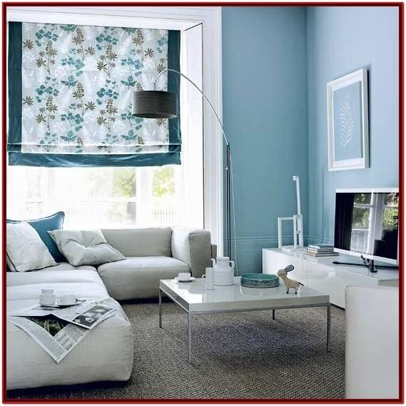 Blue Gray Living Room Wall Paint