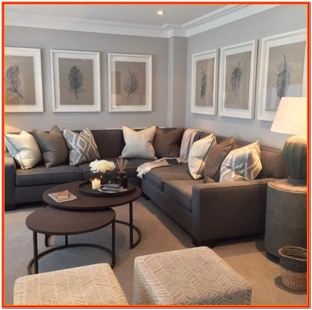 Brown Leather Couch Living Room Decor