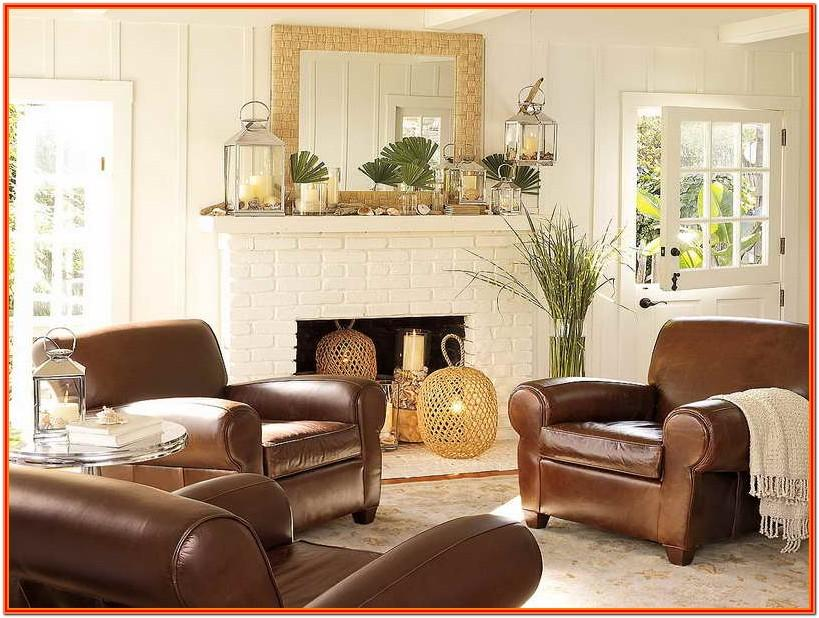 Brown Leather Living Room Decorating Ideas