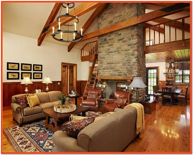 Cabin Style Living Room Ideas