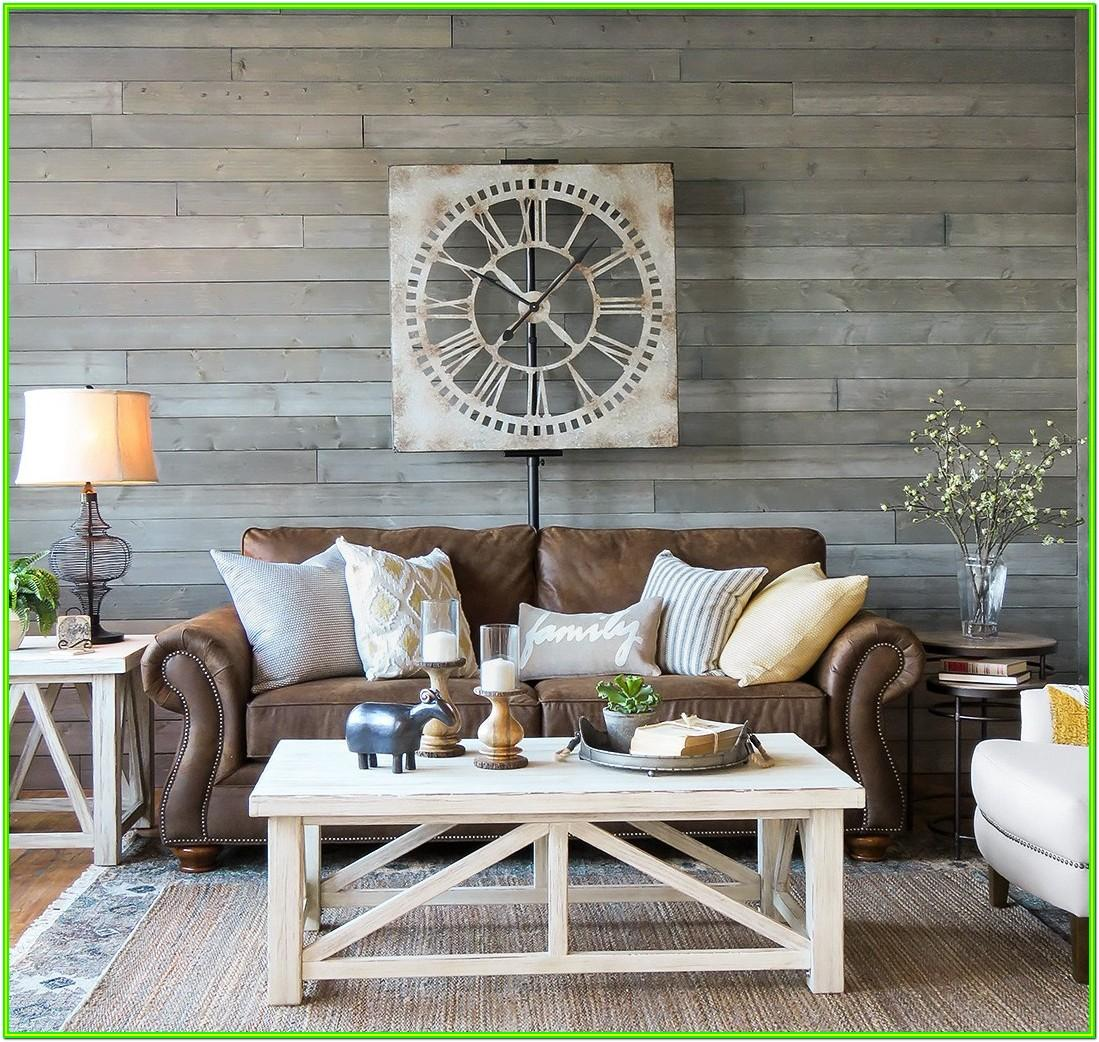 Decorate Living Room With Brown Sofa