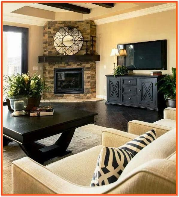 Decorate Small Living Room With Corner Fireplace