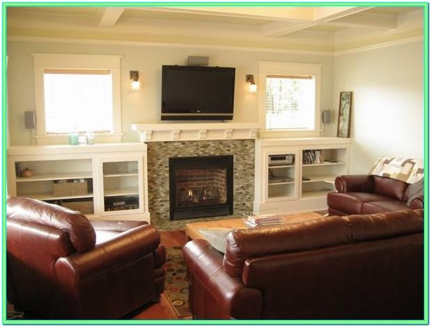 Decorating A Living Room With A Fireplace And Tv