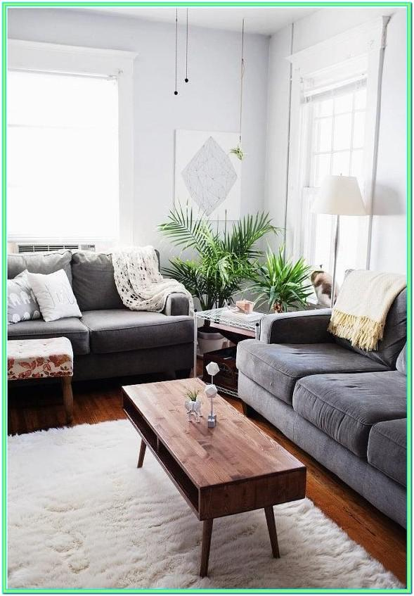 Decorating A Living Room With A Gray Couch