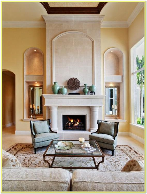 Decorating A Living Room With Fireplace