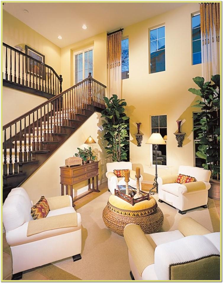 Decorating A Living Room With High Walls