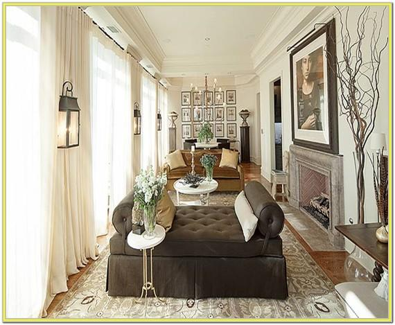 Decorating A Long Narrow Living Room With Fireplace