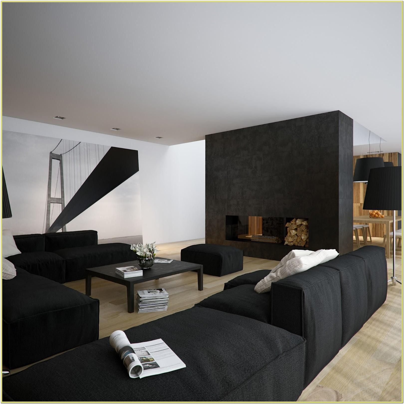 Decorating Black And White Living Room