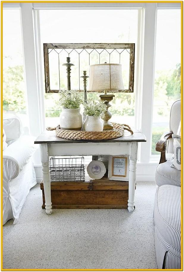 Decorating End Tables Living Room Without Lamps