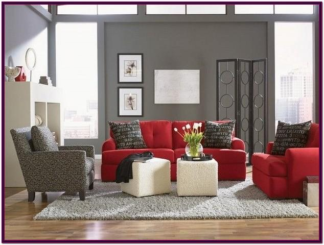 Decorating Ideas For Living Room With Red Sofa