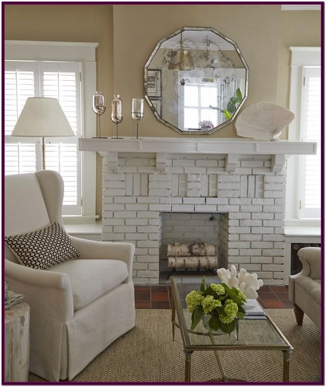 Decorating Ideas For Living Room With White Brick Fireplace