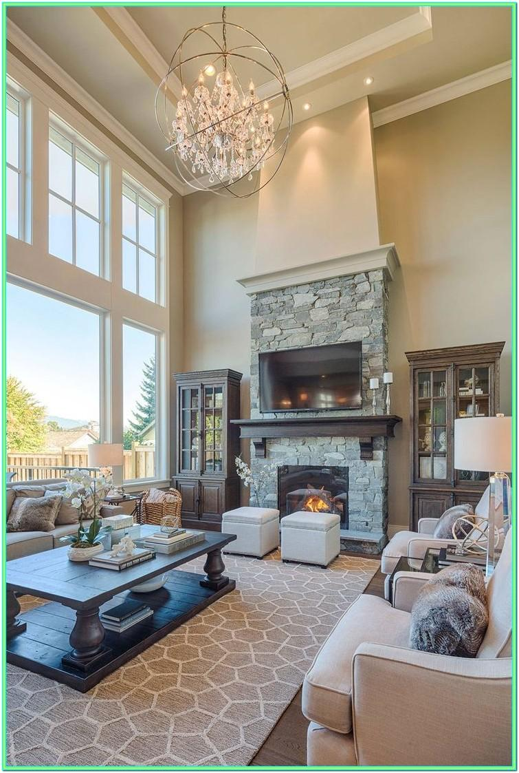 Decorating Ideas For Living Rooms With Tall Ceilings