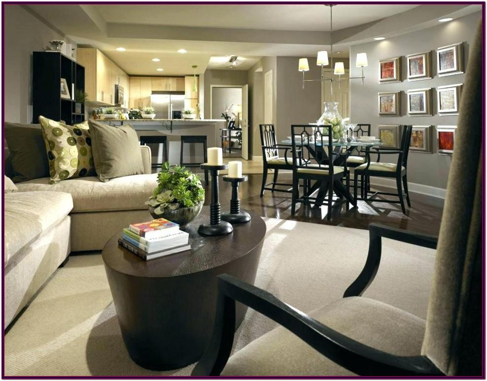 Decorating L Shaped Living Dining Room