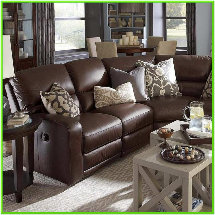 Decorating Living Room Brown Leather Couch