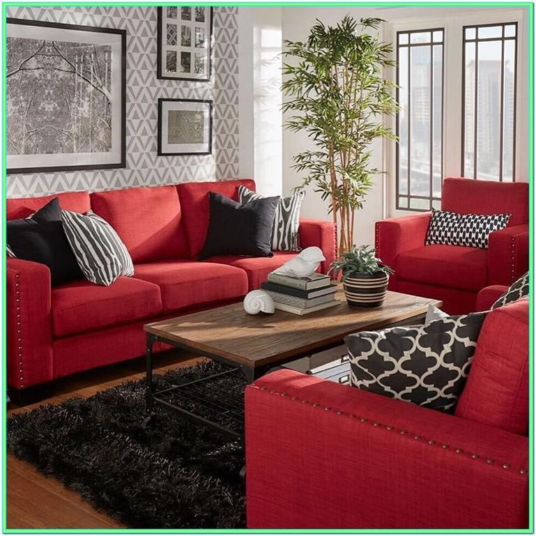 Decorating Living Room Red Couch
