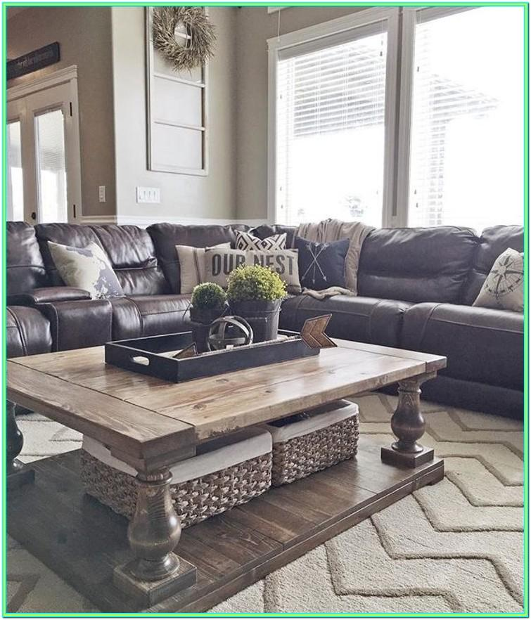 Decorating Living Room With Black Leather Couch