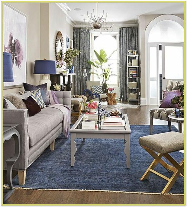 Decorating Living Room With Blue Carpet