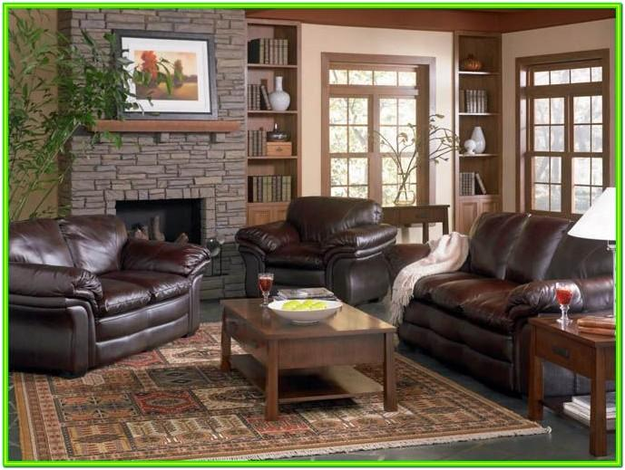 Decorating Living Room With Brown Leather Couches