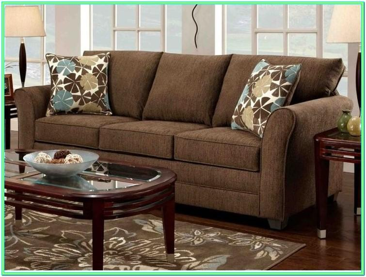 Decorating Living Room With Chocolate Furniture